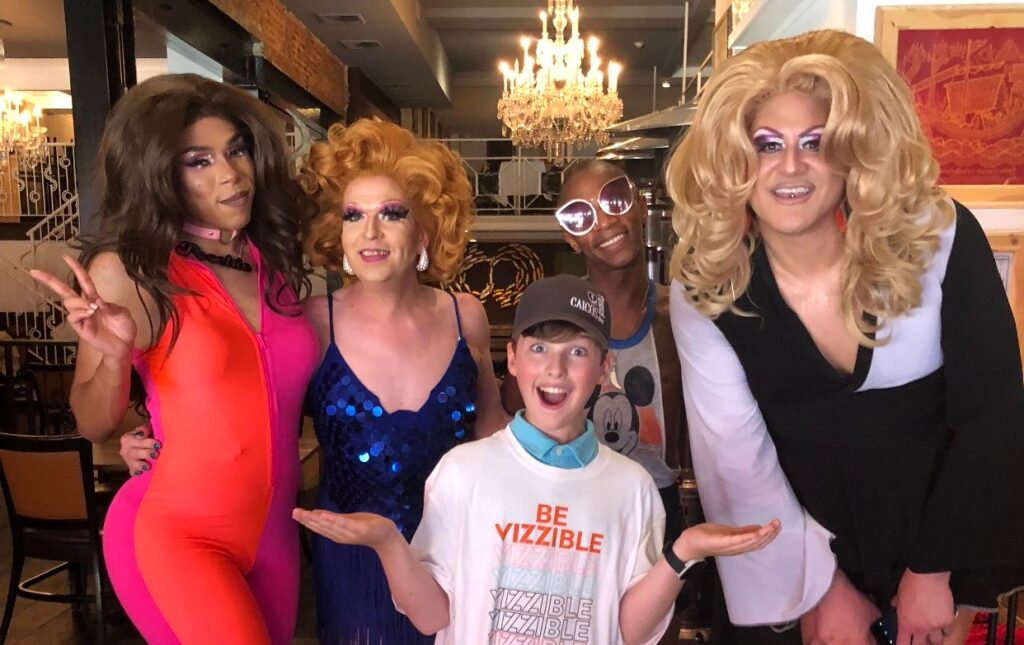 Young Sheldon with Philly Drag Queens